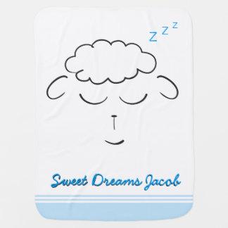 Süße Träume, Lammgesicht, Gewohnheit mit Gebet Kinderwagendecke