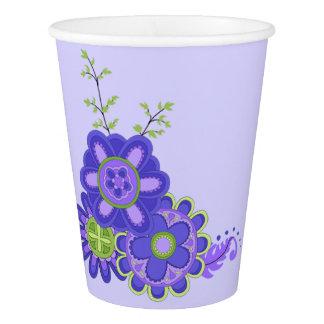 Süße u. hübsche Purpur-Blumen Pappbecher