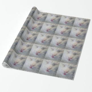 Süße, weiße Katzengeschenkverpackung Geschenkpapier