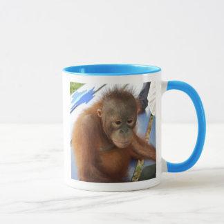 Süßer Baby-Orang-Utan Geldbeschaffer Tasse