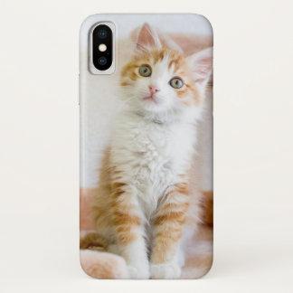 Süßer blauer mit Augen Kitty iPhone X Hülle