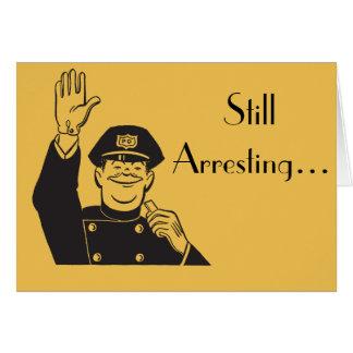 Süßer Jahrestags-Retro Polizisten noch festnehmen Grußkarte