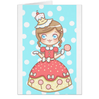 Süßer Mädchen-Geburtstag Grußkarte