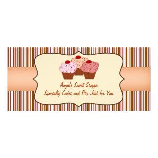 Süßer Shoppe-Kuchen-Geschäfts-Geschenkgutschein Werbekarte