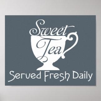 Süßer Tee gedientes neues tägliches Poster