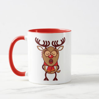 Süßer Weihnachtsren-Gesang Tasse