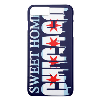 Süßer Zuhause-Chicago-FlaggeSkyline iPhone 7 Plus Hülle