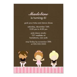 Süßes Ballett-Tänzer-Mädchen-Geburtstags-Party Karte