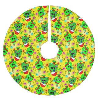 Süßes Kawaii Weihnachtsbaummuster Polyester Weihnachtsbaumdecke