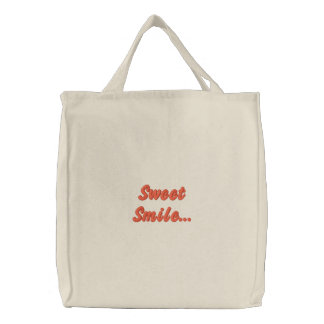 Süßes Lächeln… Bestickte Tragetasche