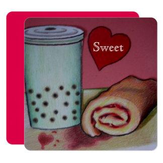 süßes Rezept für Romanze Valentinsgrußkarte Karte