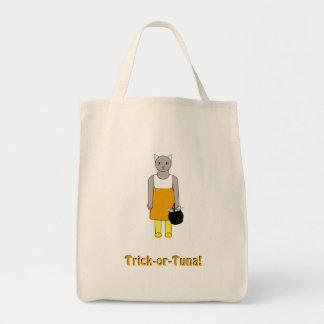 Süßes sonst gibt's Saures Tasche mit Katze im