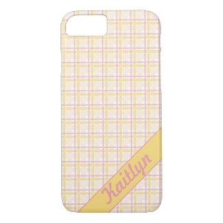 Süßes Süßigkeitsrosa mit weichem gelbem iPhone 8/7 Hülle