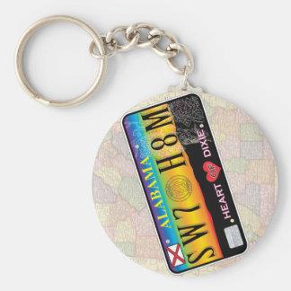 Süßes Zuhause Alabama Keychain (Karten-Reihen) Standard Runder Schlüsselanhänger