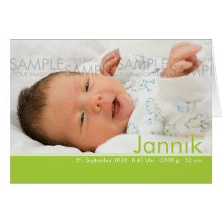 Süßigkeit färbt Geburtskarte - Baby-Mitteilung Grußkarte