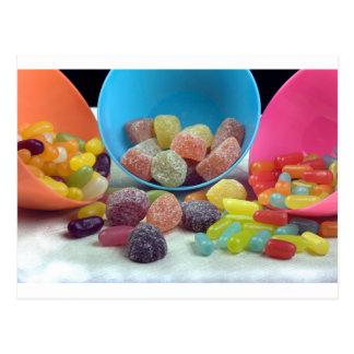 Süßigkeiten und Süßigkeit Postkarte