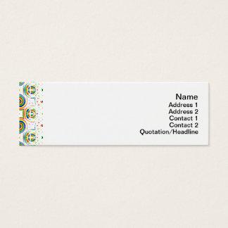 Süßigkeits-Blumen klein Mini Visitenkarte