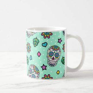 Süßigkeits-bunter Zuckerschädel Kaffeetasse