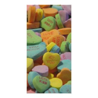 Süßigkeits-Herz ist meins i-Liebe, die Sie Bilderkarten