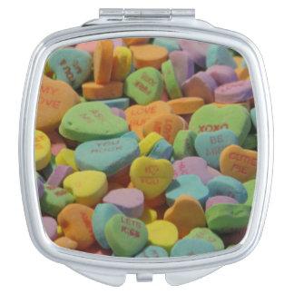 Süßigkeits-Herz ist meins i-Liebe, die Sie Taschenspiegel