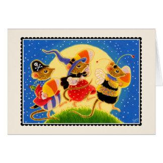 Süßigkeits-Mais-Mäusehalloween Notecard  Mitteilungskarte