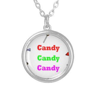 Süßigkeitssüßigkeitssüßigkeit Versilberte Kette
