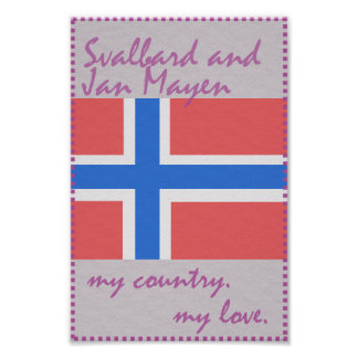 Svalbard und Jan. Mayen mein Land meine Liebe Poster