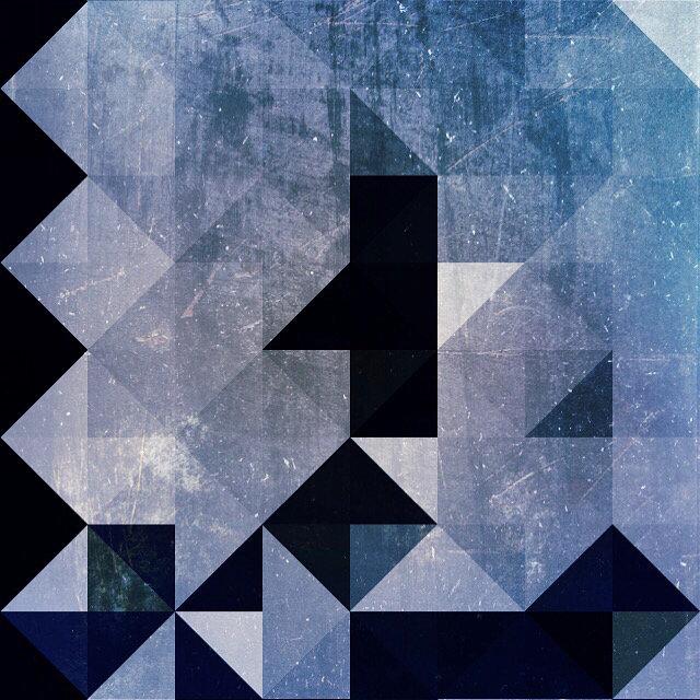 Geometric Patterns   Blue Triangles and Diamonds