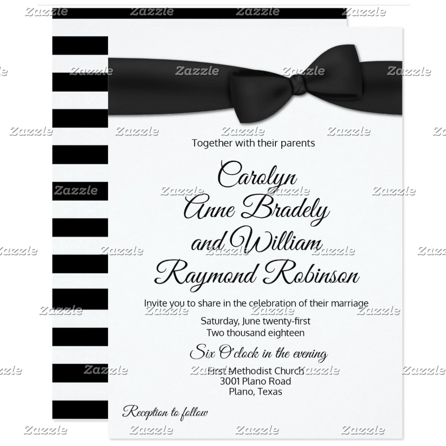 Tuxedo Bow Tie Wedding Set