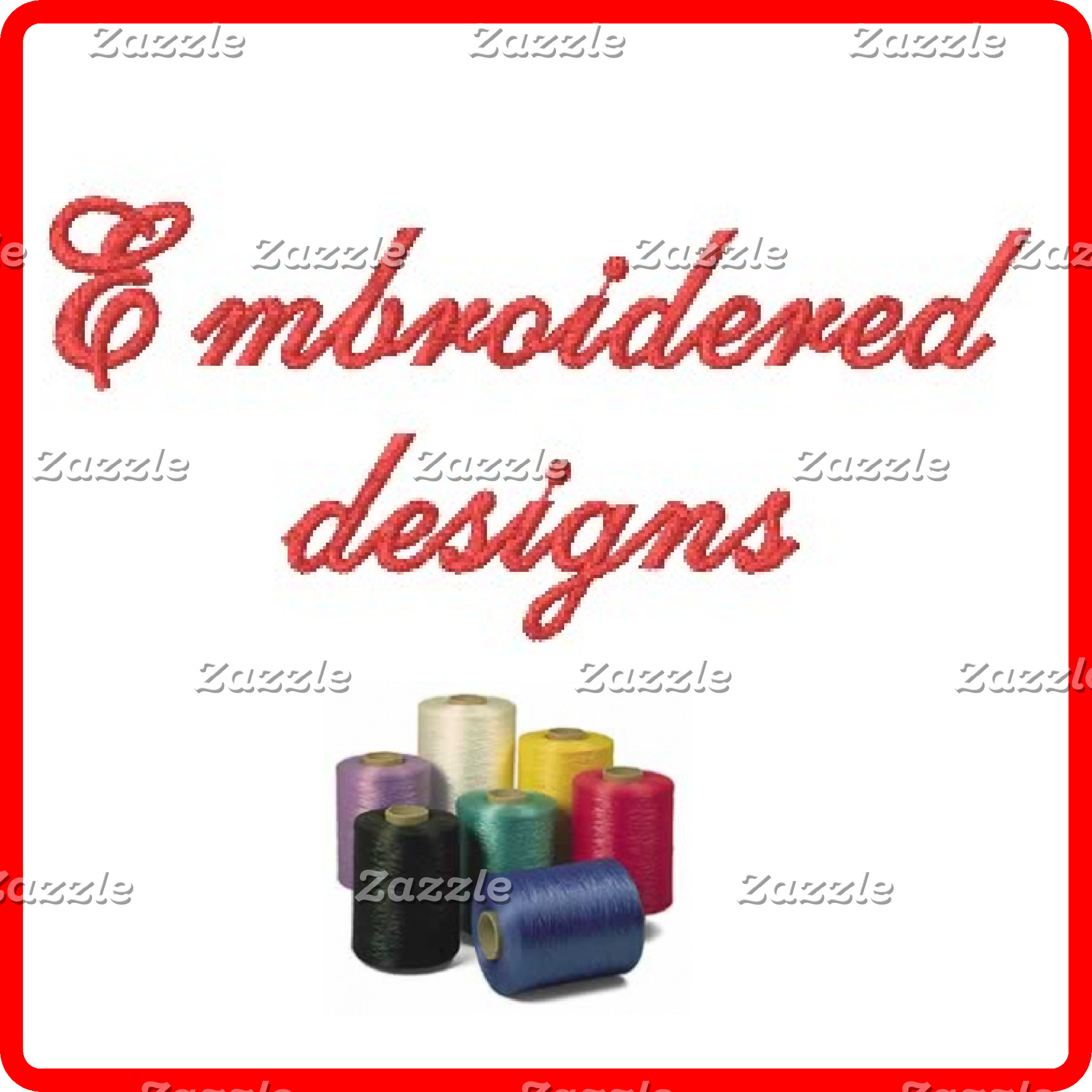 Embroidered designs