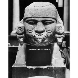 Ancient Aztec Stone Head
