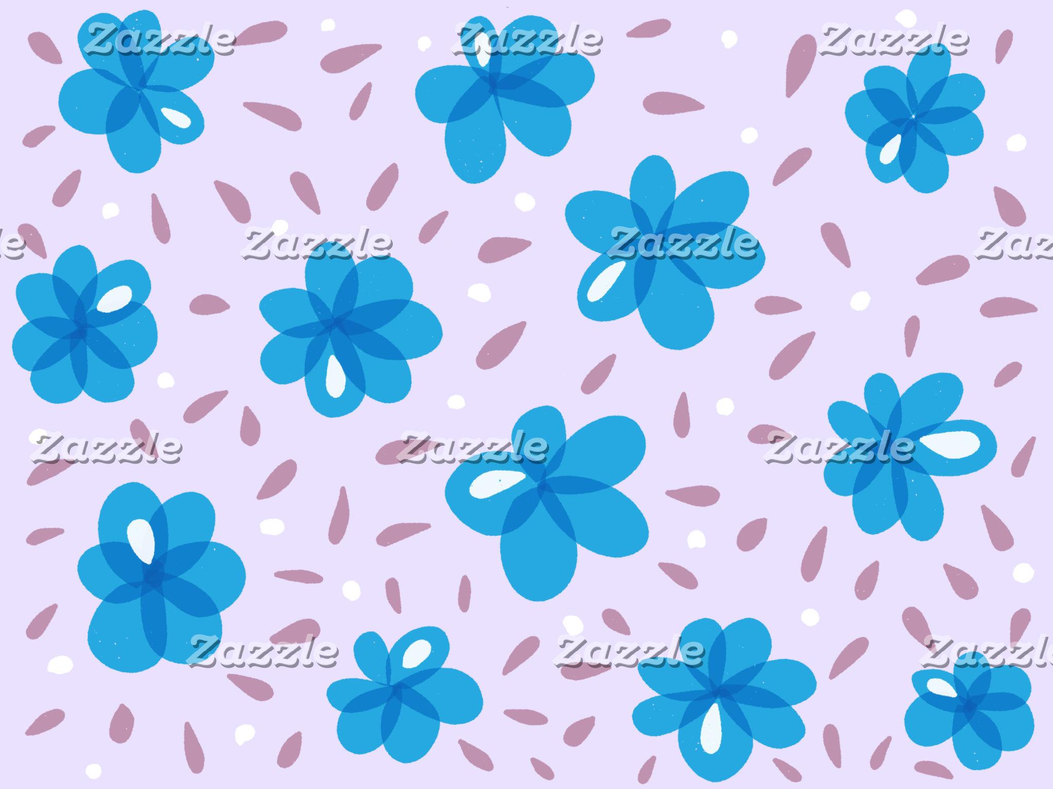Blue Flowers Pattern