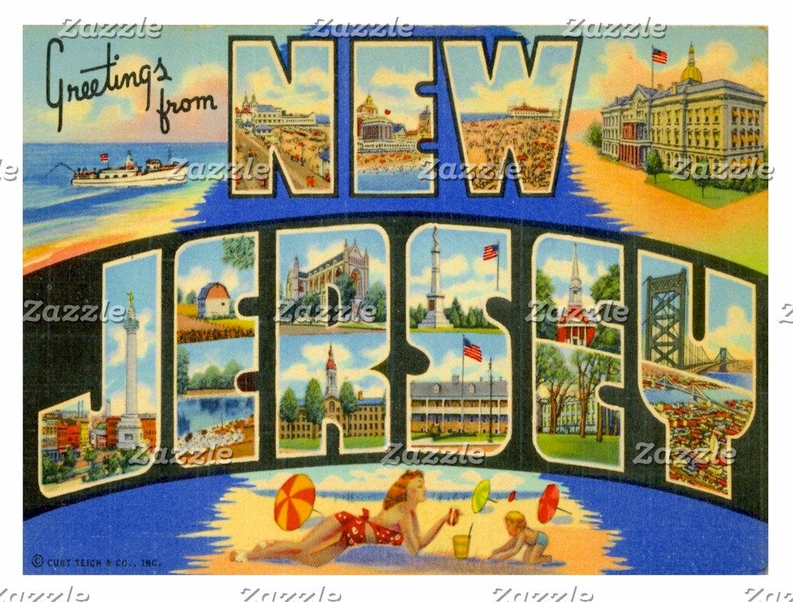 US States Postcards