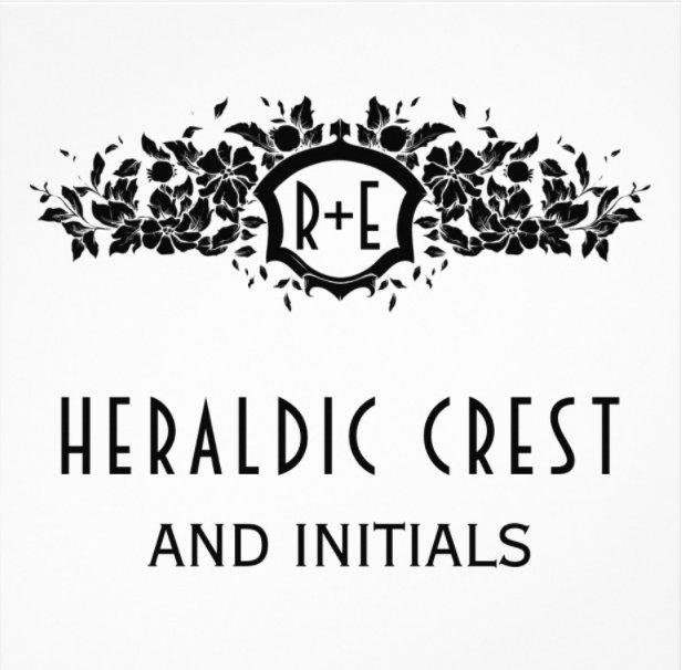 Heraldic crest and initials