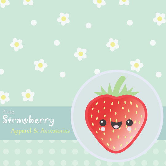 Cute Strawberry Apparel and Accessories