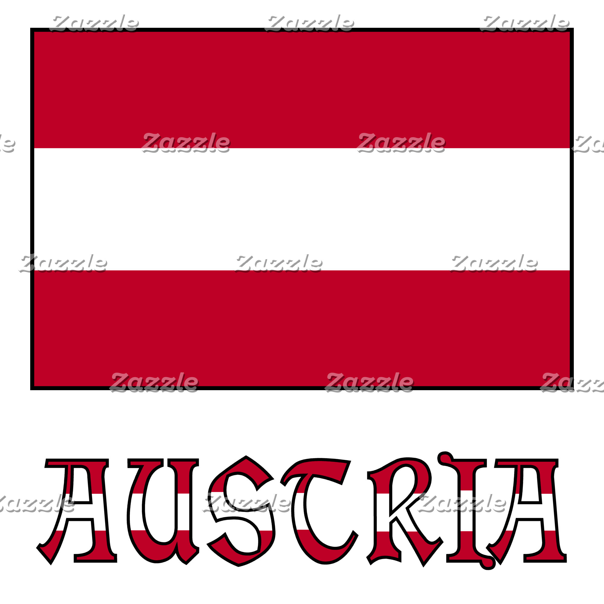 Austrian Flag and Austria