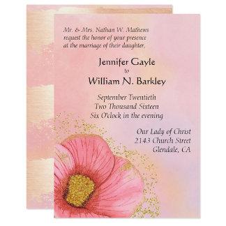 Pink Blush and Gold Romance Wedding Set