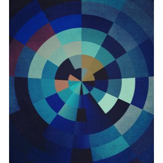 Blue Circles, Arcs, and Triangles