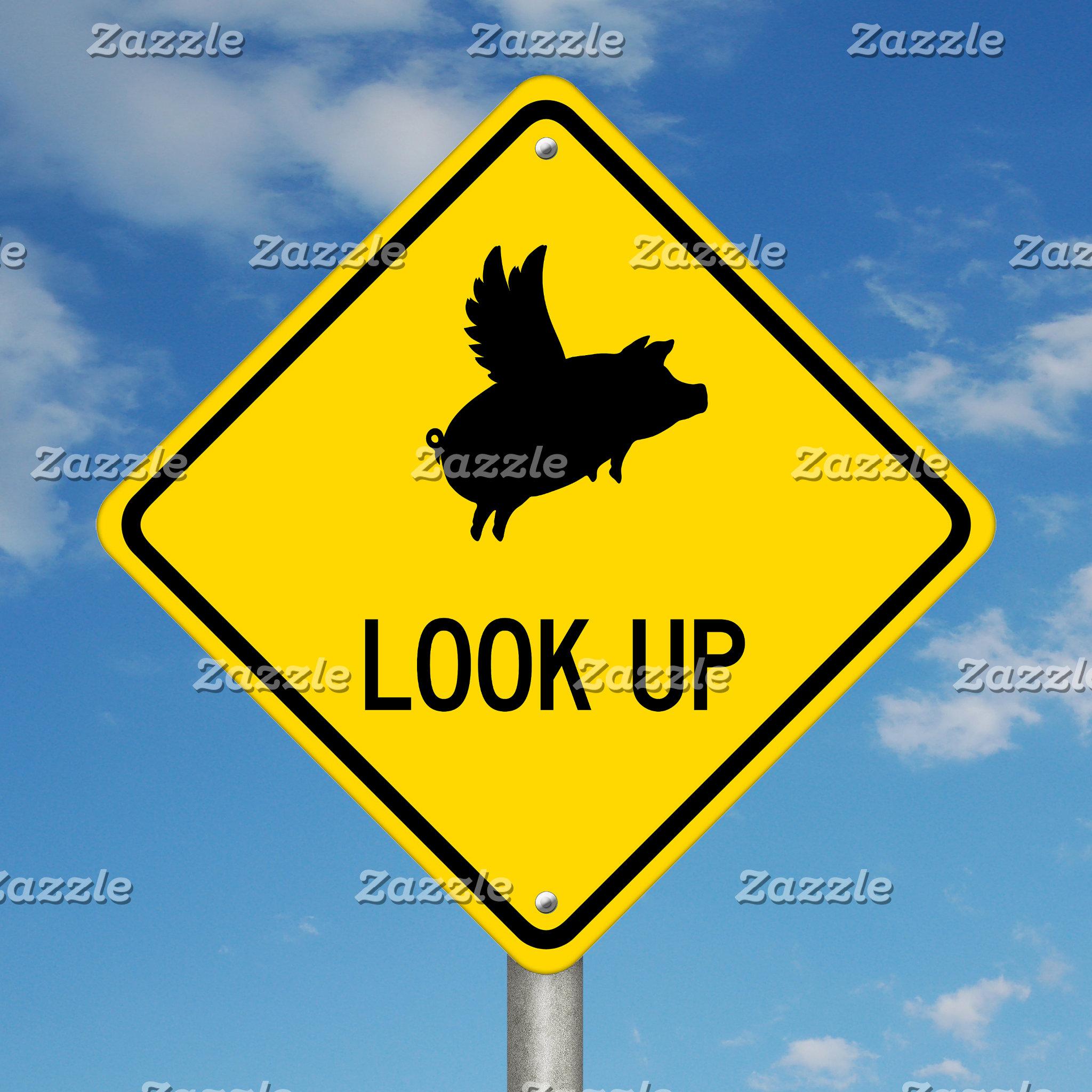 Flying Pig Sign