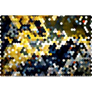 Geometric Patterns | Blue & Yellow Hexagons