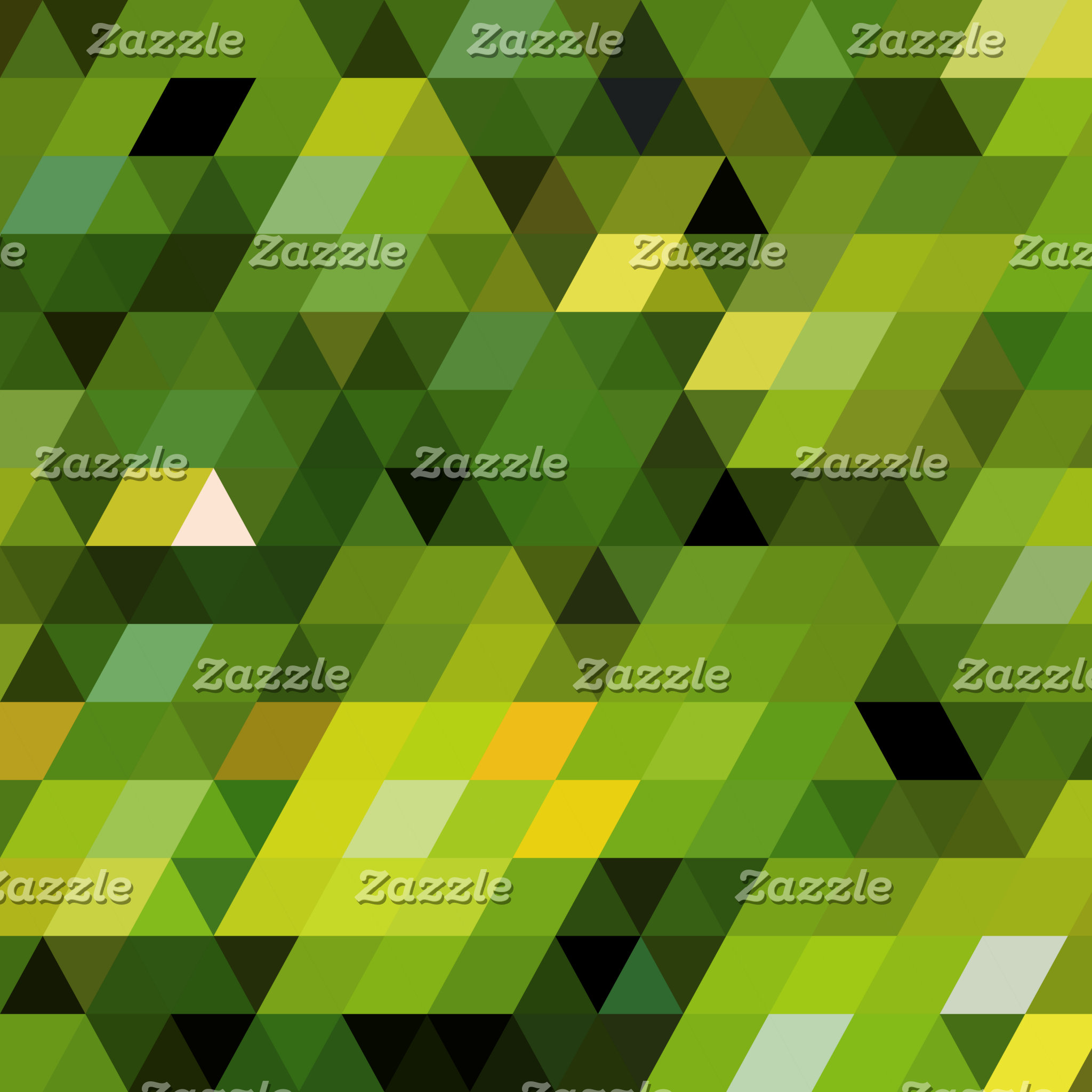 Geometric Patterns | Green triangles