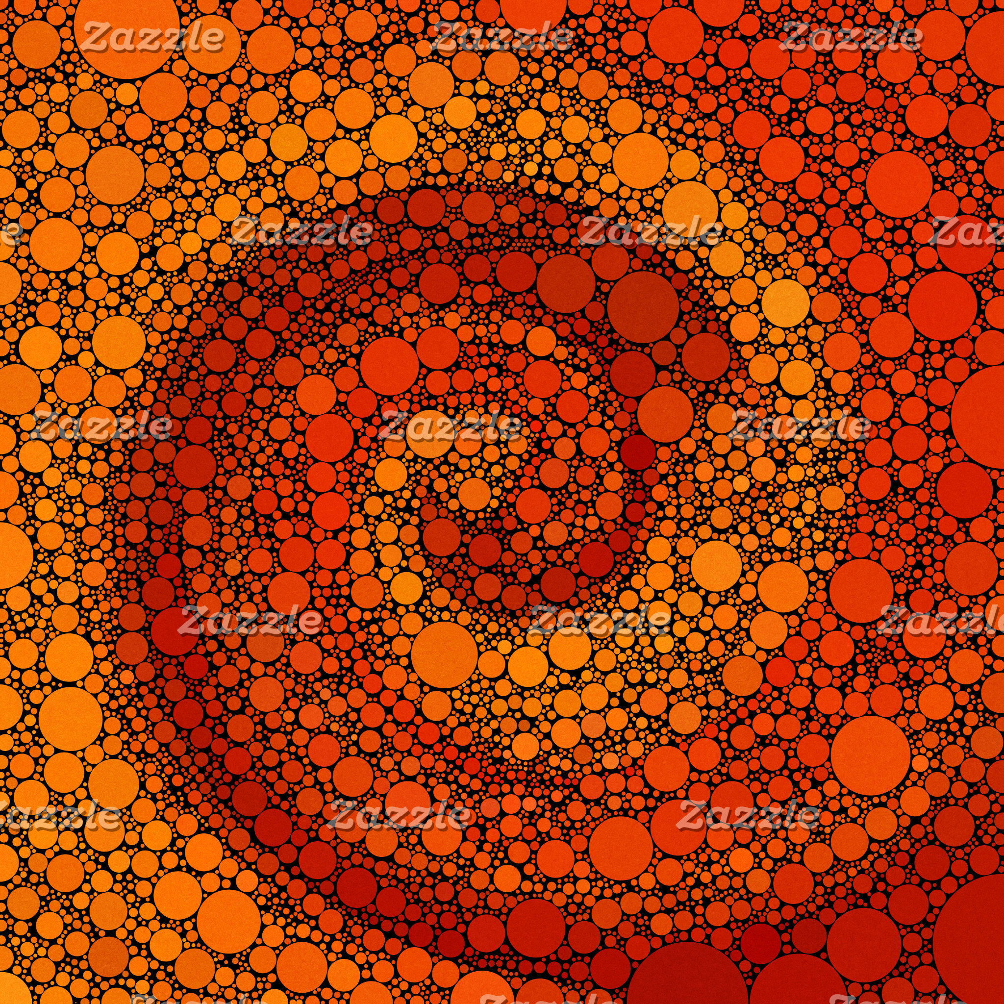 Geometric Patterns | Orange and Red Circles