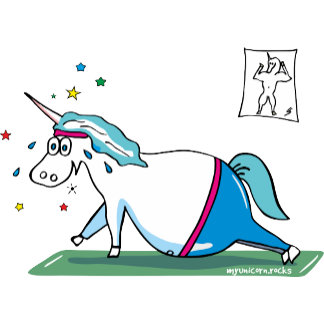 Unicorn working out
