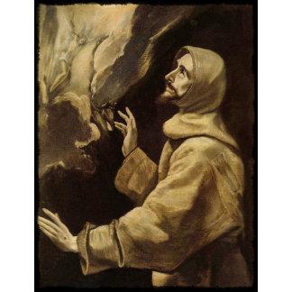 Saint Francis Eyes Toward Heaven