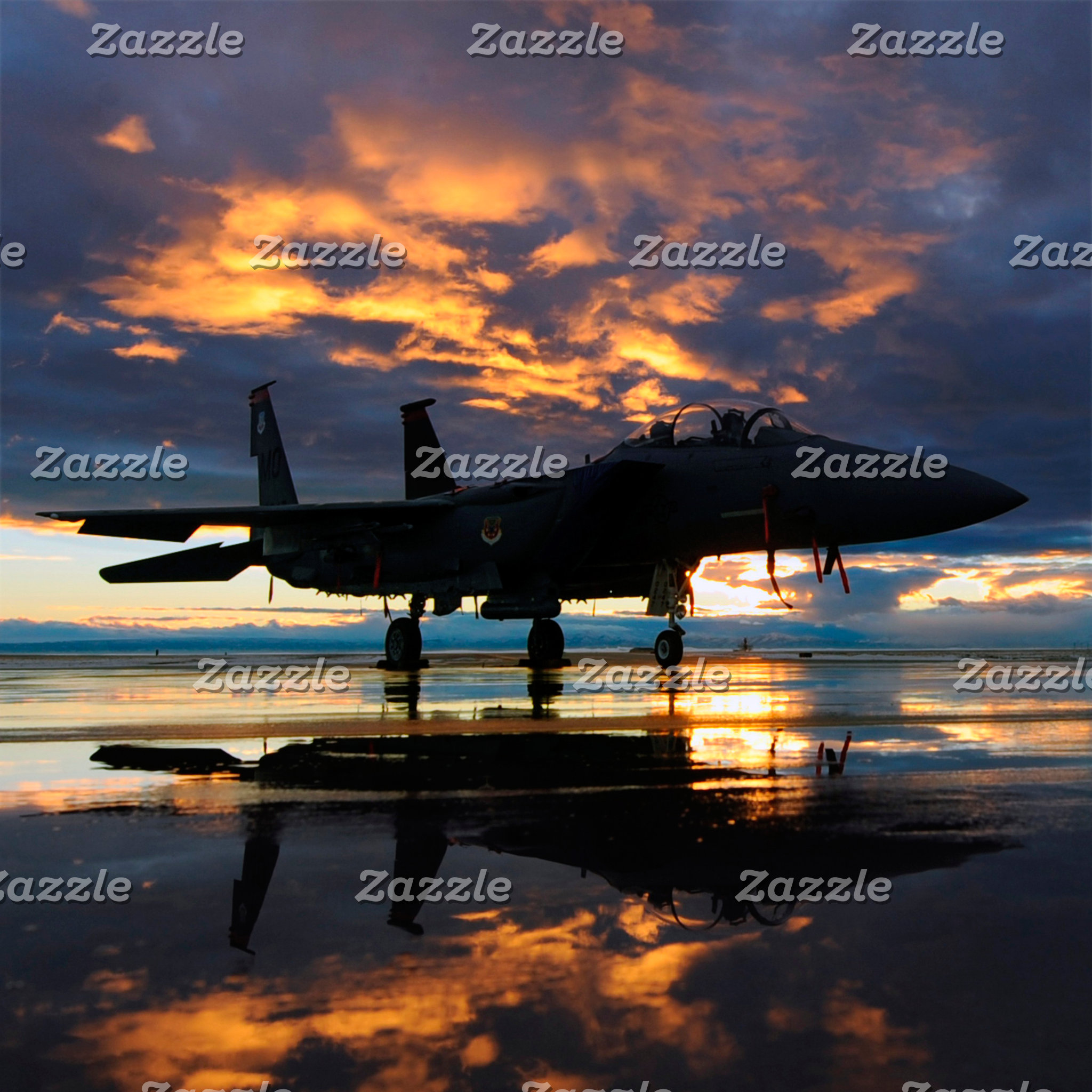 Fighter Jet Airplane at Sunset Military Gifts