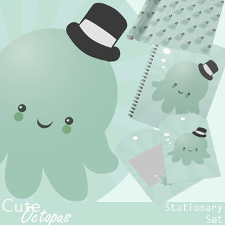 Cute Octopus Stationary