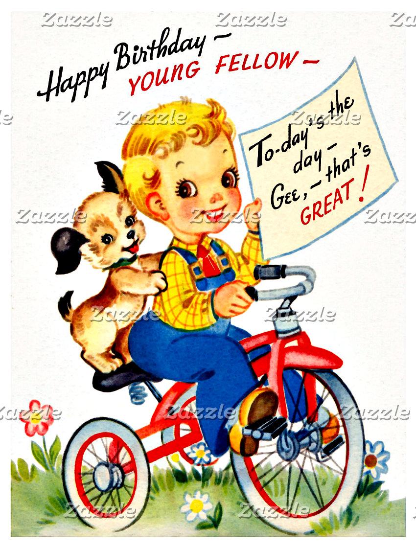 Boy Birthday Postcards