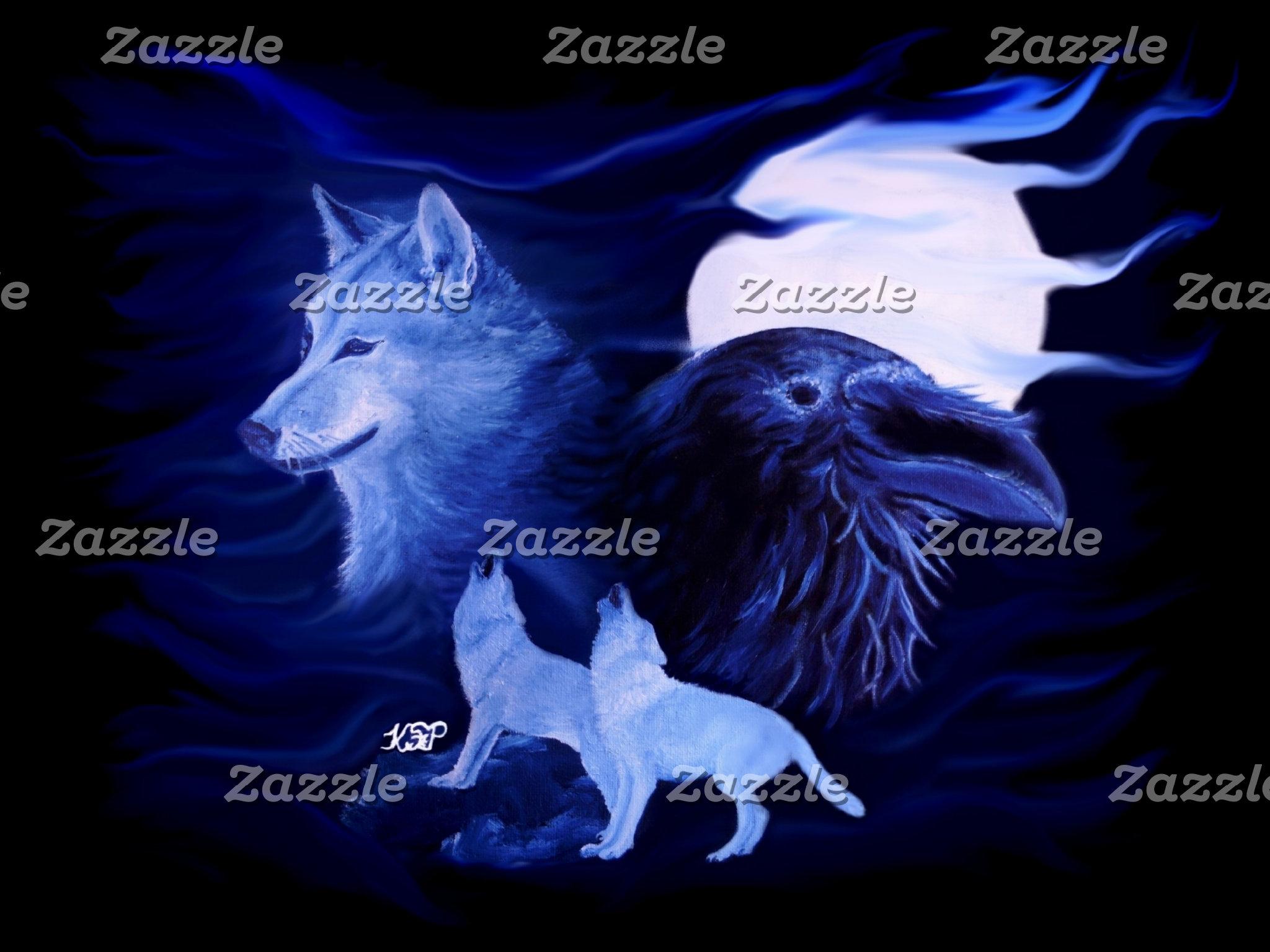 Wolves Raven - Wolf mit Rabe