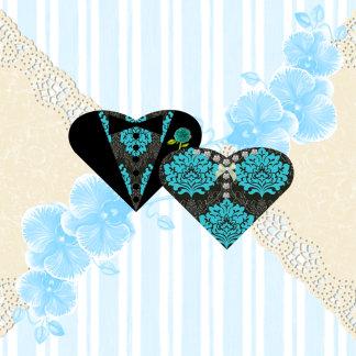 Bride & Groom Heart Wedding Invitation Collection