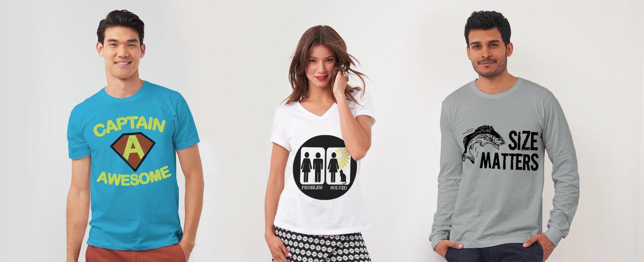 T-Shirts mit witzigen Motiven